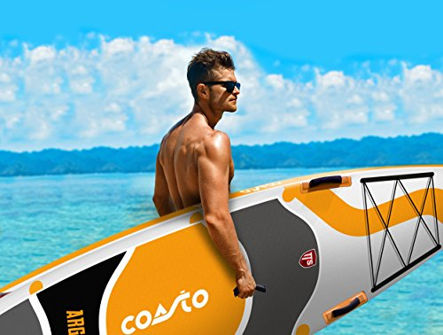 Coasto PB-CARG106 Inflatable Stand Up Paddle Thermal Twin Skin Argo 10 '6, gelb grau schwarz leer - 9