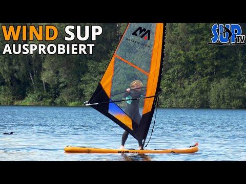 Wind SUP: Aufblasbares SUP-Board mit Segel ausprobiert | Erfahrungen einer Anfängerin (Windsurfen)