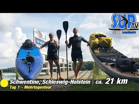 SUP-Tour auf der Schwentine - Unser nächstes MEHRTÄGIGES SUP-Abenteuer startet | SUPventure 🏕 Tag 1