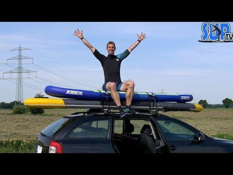 SUP-Boards auf dem AUTODACH transportieren - Anleitung mit Material und richtiger Fixierung