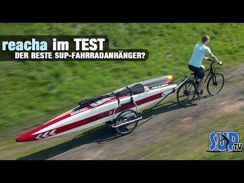 reacha im Test: Der BESTE Fahrradanhänger zum Transport von SUP-Boards, Kanus & Kajaks?! 🚲