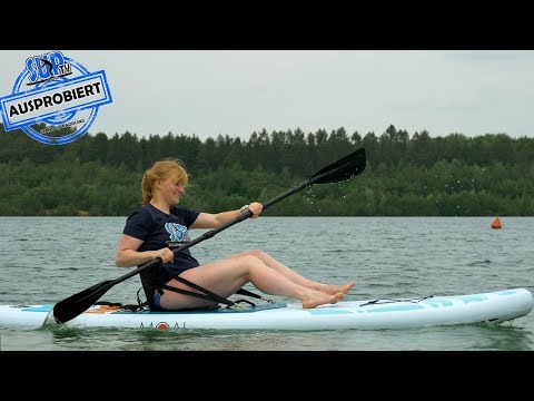 Kajak-Sitz für SUP-Boards AUSPROBIERT | Kajak-Option bei Stand Up Paddle Boards