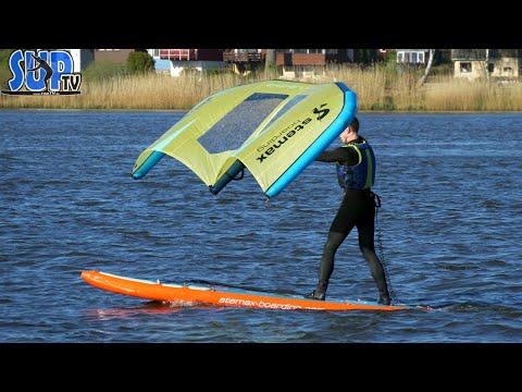 Wing Surfer - Unsere ersten Versuche mit dem WING auf Longboard & SUP-Board | Wing SUP | Ep.1