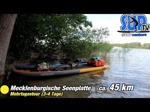 Mehrtägige SUP-Tour für Anfänger auf der Mecklenburgischen Seenplatte (ca. 45 km) | SUPventure