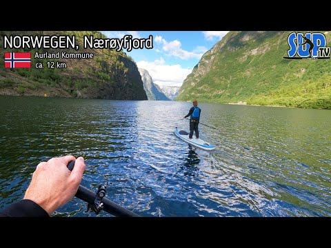 SUP-Tour in Norwegen: Traumkulisse beim Stand Up Paddling auf dem Nærøyfjord 😍