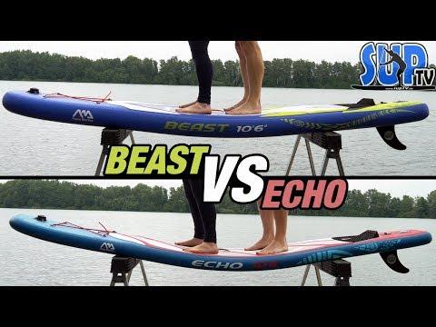 "Aqua Marina BEAST VS ECHO: Belastungstest & Unterschiede der beiden günstigen iSUP-Boards (4"" VS 6"")"