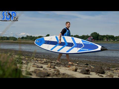"""Fit Ocean Force 12'6"""" im Test: Touring-iSUP mit Carbon-Spitze! Das schnellste aufblasbare SUP-Board?"""