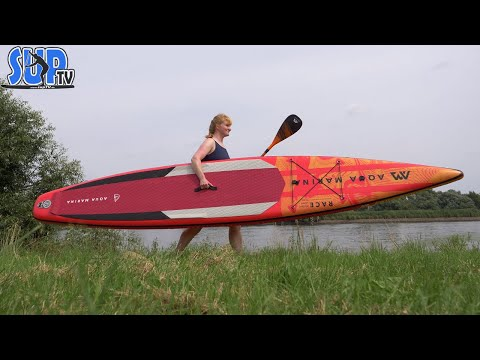 """Aqua Marina RACE 14'0"""" im Test: Das hochwertigste und schnellste AM Racing iSUP-Board!"""