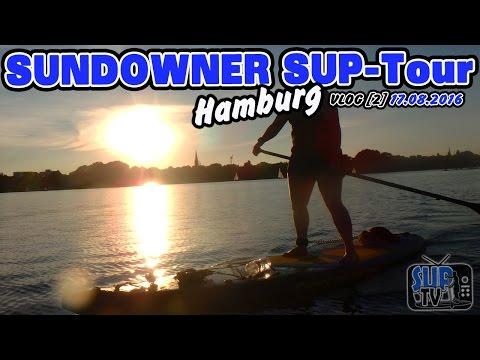 Sundowner SUP-Tour: In den Sonnenuntergang von HAMBURG   VLOG