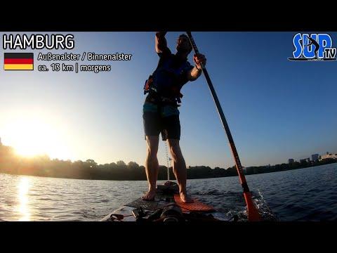 Morgendliche SUP-Tour durch die HANSESTADT HAMBURG (Sightseeing)
