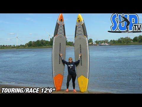 """ITIWIT Touring 500 12'6"""" SUP (orange & gelb): Die beiden Decathlon-SUP-Boards in der Vorstellung!"""