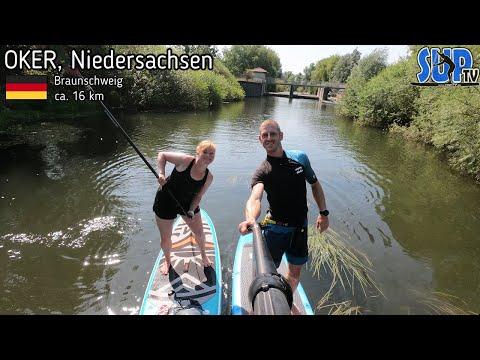 SUP-Tour auf der OKER von Wolfenbüttel bis Braunschweig (ca. 16 km) - Tagestour