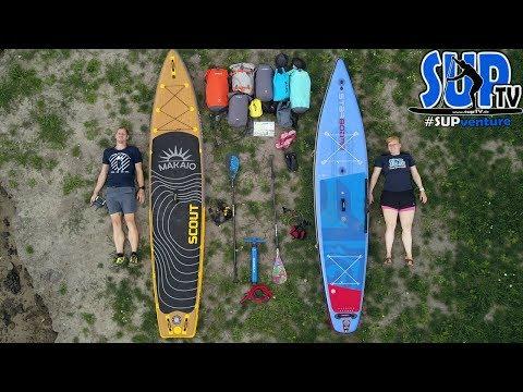 UNSERE komplette Ausrüstung für Mehrtagestouren mit dem SUP-Board // SUPventure ⛺️