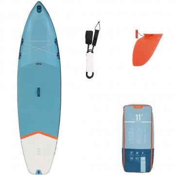 SUP-Board Stand Up Paddle aufblasbar Touring Einsteiger 11´ blau
