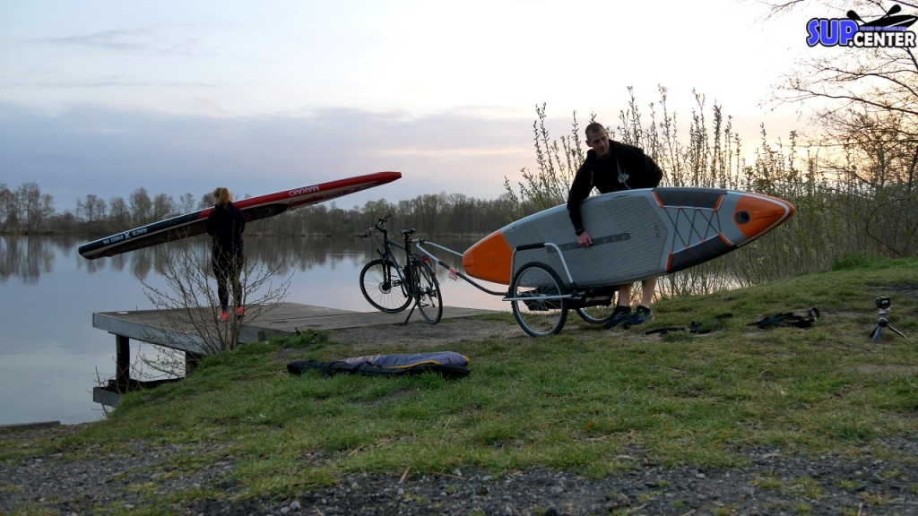SUP-Boards auf Fahrrad transportieren