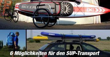 SUP Board Transport Möglichkeiten