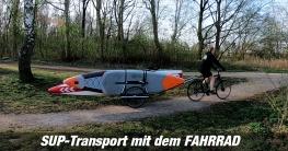 SUP-Transport auf dem Fahrrad - Stand Up Paddling