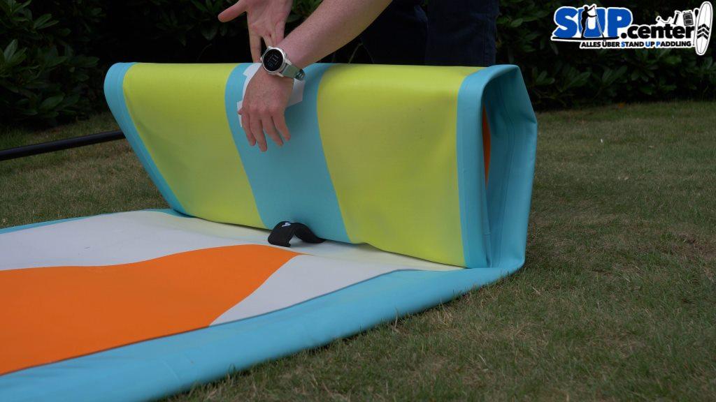 Einrollen SUP-Board